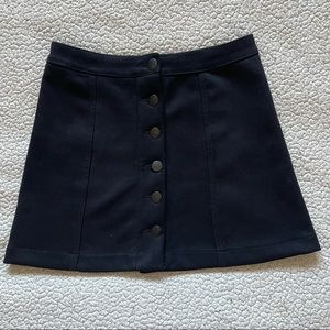 Forever 21 Suede Button Front Mini Skirt